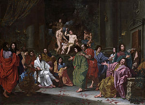 "Bentvueghels - Anonymous, ca 1660, Rijksmuseum Amsterdam – Initiation of a Bentvueghel in Rome, where the new member receives his nickname or ""Bent"""
