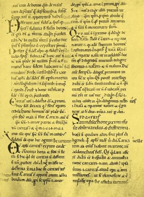 Anselm Sentences