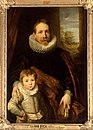 Anthony van Dyck - Portrait of a man, possibly Jan van den Wouwer, with his son.jpg