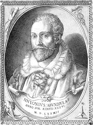 Antonio Abondio - Portrait of Antonio Abondio by Martino Rota, 1574