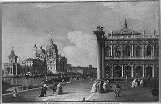 Südteil der Piazzetta mit der Biblioteca Marciana und Canale Grande (Nachahmer)