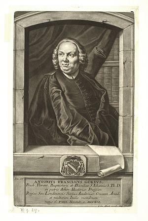Antonio Francesco Gori - Antonio Francesco Gori by Johann Jacob Haid.