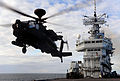 Apache Helicopter Operations on HMS Ark Royal MOD 45151993.jpg