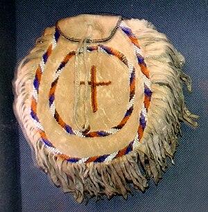 Fort Sill Apache Tribe - Chiricahua beaded pouch, Oklahoma, Oklahoma History Center