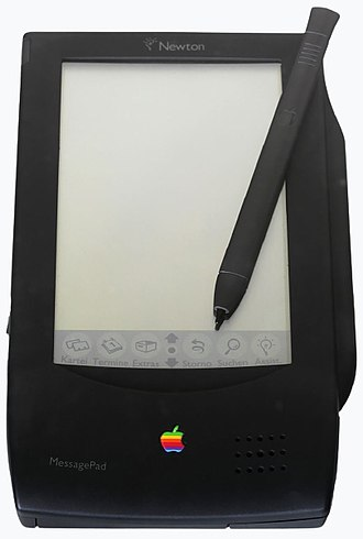 Tablet computer - Apple Newton MessagePad, Apple's first produced tablet, released in 1993.