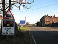 Approaching the level crossing on Station Road (B1134) - geograph.org.uk - 1572365.jpg