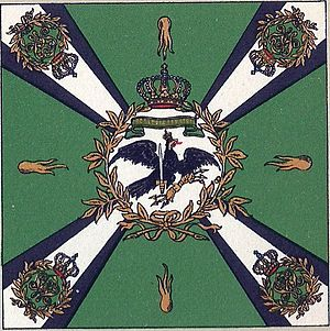 IX Corps (German Empire) - Flag of the Jägers Battalion