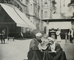 Arab Sangfroid- Effendis Sitting Down in the Middle of the Road to Read a Letter. (1911) - TIMEA.jpg