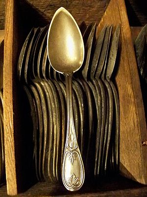 Arabia Steamboat Museum - 1856 spoons at Arabia Steamboat Museum