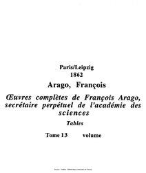 François Arago: Œuvres complètes de François Arago, secrétaire perpétuel de l'académie des sciences