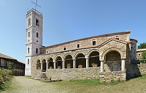 Architecture of Albania - The Ardenica Monastery near Fier.