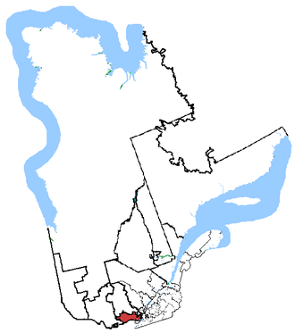 Argenteuil—Papineau—Mirabel - Argenteuil—Papineau—Mirabel in relation to other Quebec federal electoral districts.