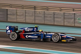 Dallara GP2/11 - Image: Arjun Maini at 2017 Abu Dhabi F2 test