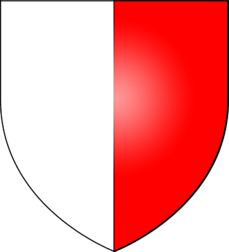 Waldegrave family - Coat of arms of Waldegrave: Per pale argent and gules.