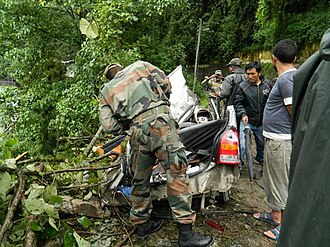 2011 Sikkim earthquake - Army's rescue operations in earthquake affected area of Sikkim