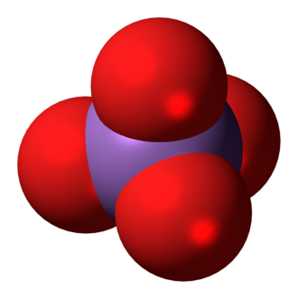 Arsenate - Image: Arsenate anion 3D spacefill