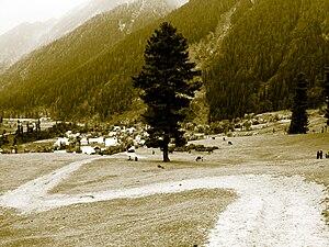 Lidder Valley - The Lidder Valley at Aru, Jammu and Kashmir