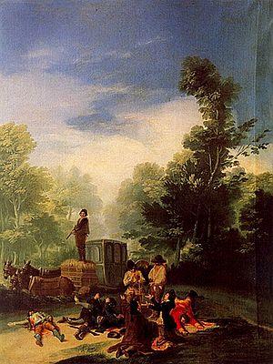 Highwayman - Asalto al coche (Robbery of the coach), by Francisco de Goya.