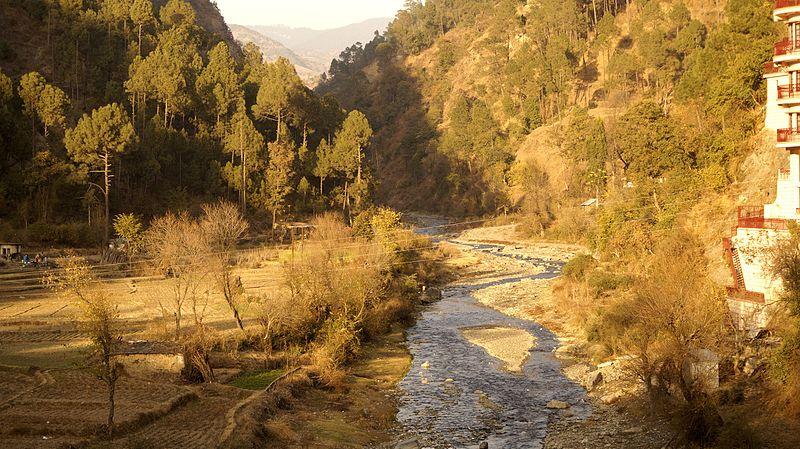 File:Ashwani Khadd or rivulet at Sadhu Pul ,near Chail ,Himachal Pradesh.jpg