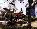 Até o avião entrou na campanha^ Dia mundial de combate à AIDS - Praça do Avião, simbolo da cidade 01-12-2010 16-53 ^photoday ^206 postada em http-twitpic.com-3c1yjr - panoramio.jpg