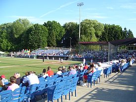 Auburn Doubledays game Falcon Park Auburn