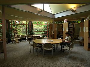 Auckland Botanic Gardens - Interior of the library