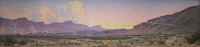 View of El Paso at Sunset (c. 1922–1925)