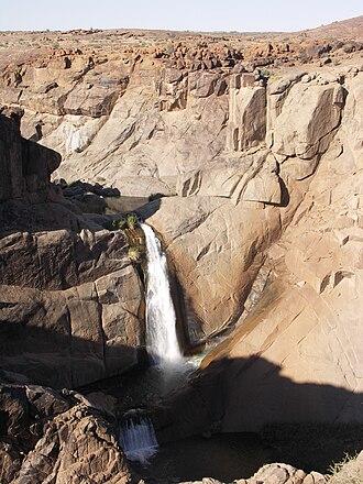 Orange River - Twin Falls in Augrabies Falls National Park
