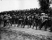 Australian 6th Brigade marching Somme (AWM EZ0092)
