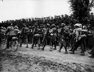 2nd Division (Australia) - Remnants of the 6th Brigade returning from Pozières, August 1916.