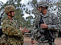 Australian Army Maj. Gen. Stuart Smith, left, the commanding general of the 1st Division and Deployable Joint Force Headquarters, and U.S. Army Col. Matthew McFarlane, the commander of the 4th Infantry Brigade 130723-A-ZX807-005.jpg