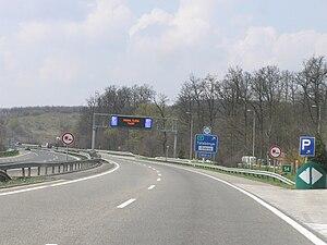 M1 motorway (Hungary) - Image: Autobahn M1HU 7