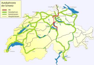 A4 motorway (Switzerland) - Image: Autobahn a 4