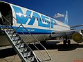 """Avião Boeing 737-200 - PP-SFI da extinta VASP. Este avião teve a """"sorte"""" de ser arrematado em leilão e não virou sucata. Este é o último avião da VASP que saiu inteiro de Congonhas. - panoramio (2).jpg"""