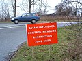 Avian Influenza ( Bird Flu ) Sign - geograph.org.uk - 338388.jpg