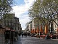 Avignon les cafés de la place de l'Horloge.jpg