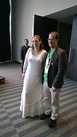 Avner and Darya's wiki Wedding at Wikimania by ovedc 02.jpg