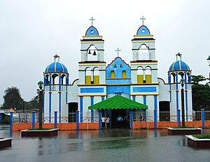 Jalpa de Méndez (municipality) - Facade of the church in Ayapa