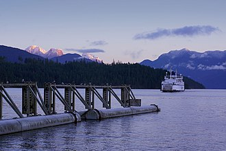 Earls Cove, British Columbia - BC Ferry arriving at Earls Cove