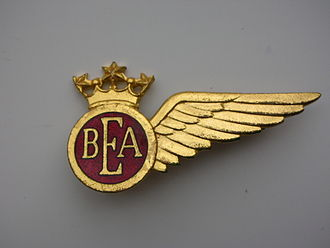British European Airways - BEA flight attendant lapel badge