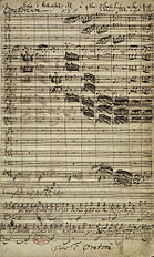 Autograph of the first page of the Christmas Oratorio