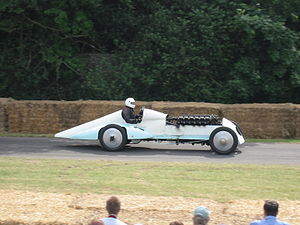 Babs (land speed record car) - Restored, at Goodwood in 2005