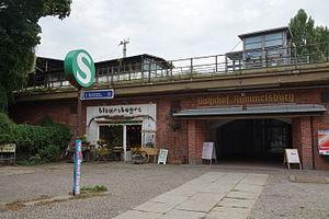 Berlin-Rummelsburg railway station - Main entrance on Nöldnerstraße