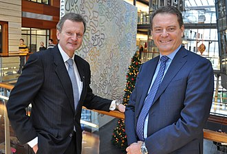 Telenor - Former CEO Fredrik Baksaaas (left) with Ericsson CEO Carl-Henrik Svanberg, 2008.