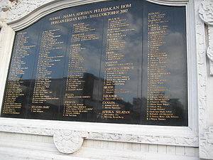 List of victims of Bali-bomb