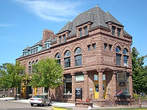 National Register of Historic Places listings in Bayfield County, Wisconsin - Image: Bank of Washburn