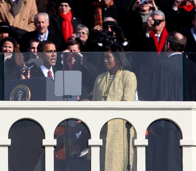 File:Barack Obama 2009 presidential inauguration.jpg