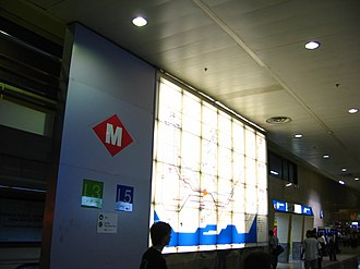 Barcelona Sants railway station - Access to the metro station from the railway station