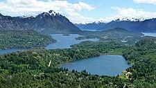 Vido de Bariloche kaj Nahuel Huapi Lago