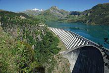 Le barrage de Roselend dans le Beaufortain